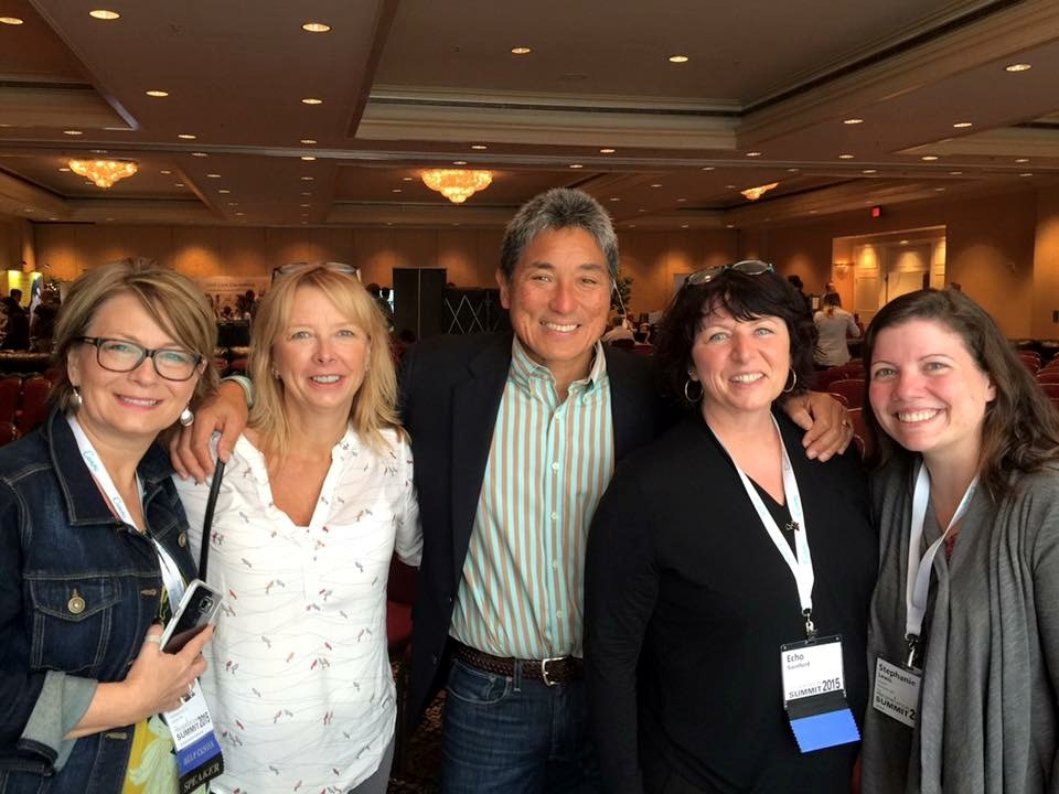Guy Kawasaki, with members of the 2015 Summit team
